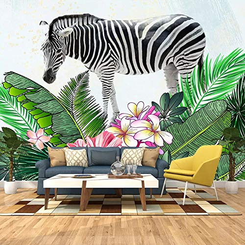3D-Türaufkleber, Motiv: Zebrapflanze, abnehmbar, selbstklebend, 77 x 200 cm