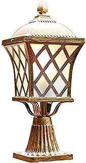 Modern European Victoria Villa Pillar Lamp Vintage Bronze Outdoor Pillar Lamp Aluminum Rust Prevention Single Metal E27 Po...