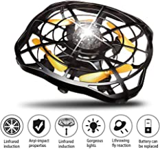$20 » Hand Operated Drones Flying Toys : HLDJYB UFO Mini Ball 360 Rotating LED Light Infrared Induction Auto-Avoid Obstacles with 2 Rechargeable Batteries, Easy Indoor Outdoor Drone for Kids