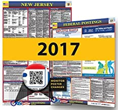 Osha4less 2019 New Jersey State & Federal Labor Law Posters for Workplace Compliance