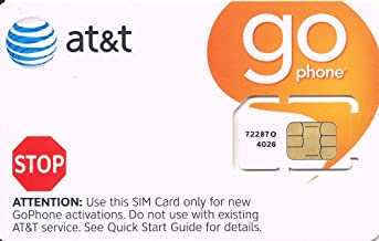 ATT Wireless GO Phone SIM Card 3G 2G / Edge