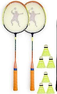 Rk son (Doual Power) Rackets 2 pcs & 6 pcs Nylon shutle pcs Cover badmintion
