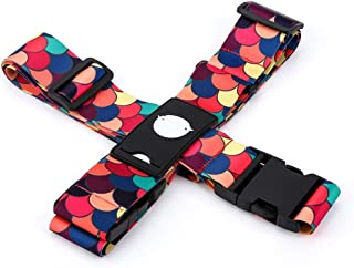 Luggage Straps Suitcase Belts Travel Accessories Bag Straps (Cross Belt Scale)