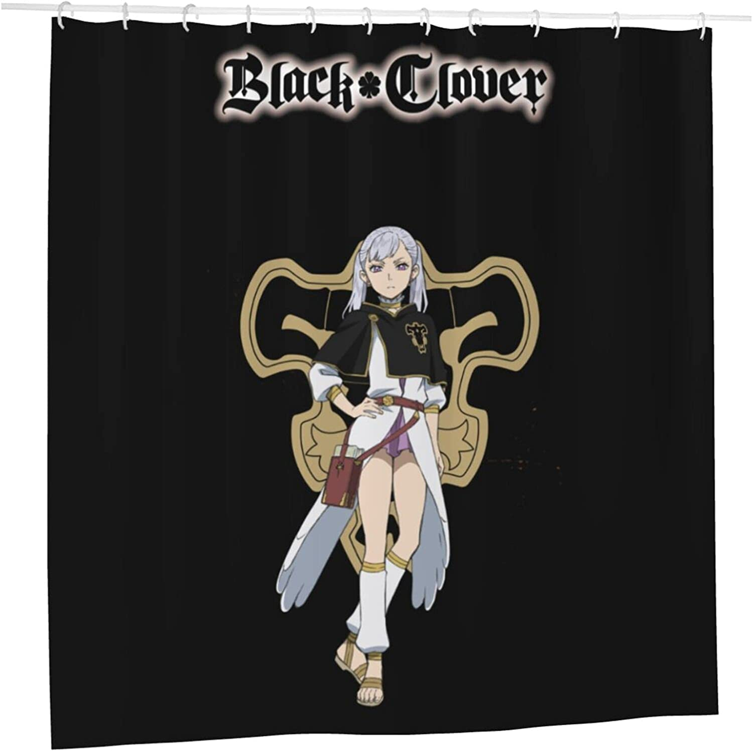 Black Clover Anime Bathroom Our shop most popular Shower Department store Curtain 72