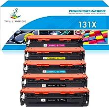 True Image Compatible Toner Cartridge Replacement for HP 131X 131A CF210X CF211A CF212A CF213A LaserJet Pro 200 color M251nw M251n MFP M276nw M276n (Black Cyan Yellow Magenta, 5-Pack)