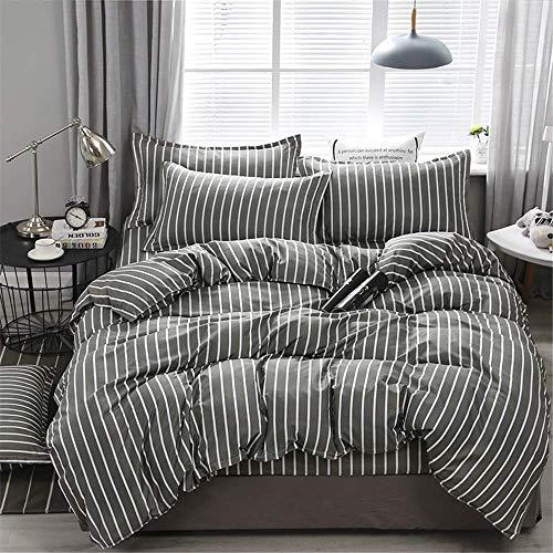 CMmin groot beddengoed set | super zacht satijn | diepe zak gratis rimpels | 300 draad tellen, eenvoudig te installeren, ademend en warmte wastafel grote 4-delige set bed