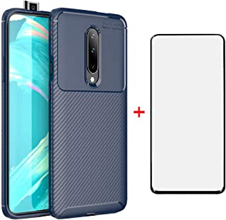 Phone Case for Oneplus 7 Pro with Tempered Glass Screen Protector Cover and Cell Accessories Slim Thin Rugged Soft TPU Rub...