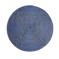 HTLLT 耐久性に優れたコースターホームコースターキッチン断熱マットアンチ火傷ポットマットホームクリエイティブアンチスキッドコースター(4個),青,36センチメートル* 36センチメートル