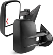 YITAMOTOR Towing Mirrors Compatible for 07-13 Chevrolet GMC Cadillac Silverado Sierra Pair Set Power Tow Heated Telescoping with LED Arrow Signal Light Side Mirrors (just 07 New Body)