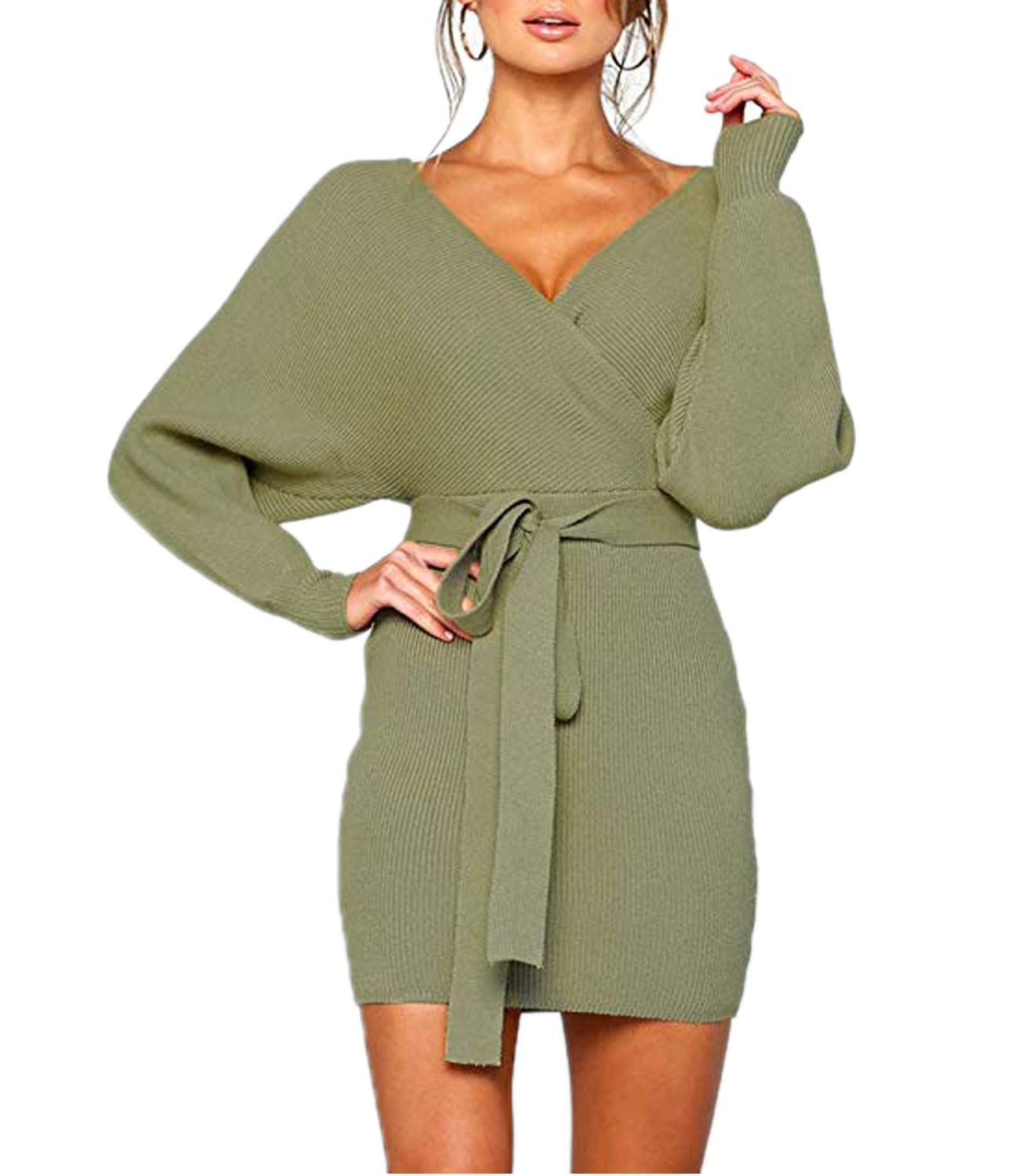 Sweater Dress - Women's Loose Oversize Turtleneck Wool Long Pullover Sweater Dress