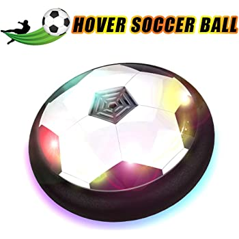 PALA PERRA Hover Soccer Ball Christmas Rechargeable Air Hover Balls with Colorful LED Lights Great Gift for Kids Age 3+ Birthday Floating Hover Soccer Ball Indoor with Protective Foam Bumper