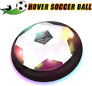 HobbyLane Hover Soccer Ball Kids Electric Football, Disc Ball with LED Lights Foam Bumpers Indoors Outdoors Training Football with Parents Game As Hockey Ball Gliding Ball Kicking Play Ball