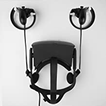 MIDWEC Mount and Organizer for Oculus Touch and Oculus Rift Helmet-Black