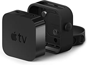 elago Apple TV Mount Compatible with Apple TV 4K / 4th Generation – Three Mounting Options, Easy Installation, Scratch-Free Material, Space Saving