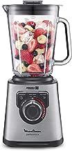 Moulinex Perfect Mix + Blender haute vitesse, 1200 W, Bol verre 2L, 3 programmes automatiques, Smoothie, Glace pilée, Nett...