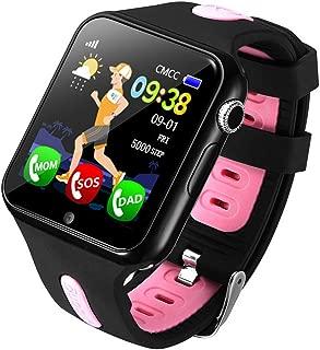Fan-Ling 1PCS Kids GPS Smartwatch,1.44 inch Anti-Lost Smart Watch for Children Girls Boys,Multifunction Smartwatch,GPS Tracker Watch,Support Music,Weather Report (C)