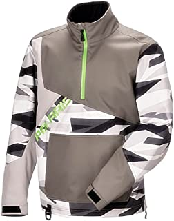 Polaris OEM X-Over Lightweight Water Repellent Pullover Jacket Snowmobile DWR - Gray - X-Large