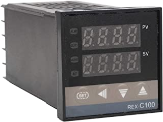 Inteligentny termostat, regulator temperatury PID REX-C100 + przekaźnik półprzewodnikowy 40A + termopara K GD