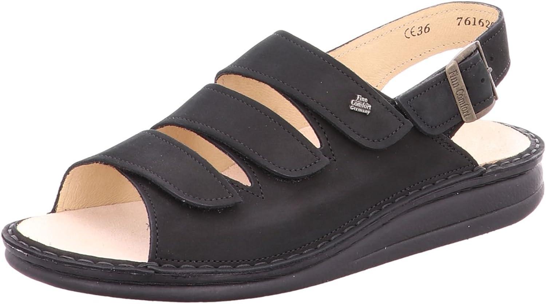 Finn Comfort herrar Mode Sandals svart svart svart svart (svart) 36  olika storlekar