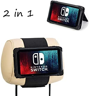 Car Headrest Mount Holder and Playstand for Nintendo Switch.