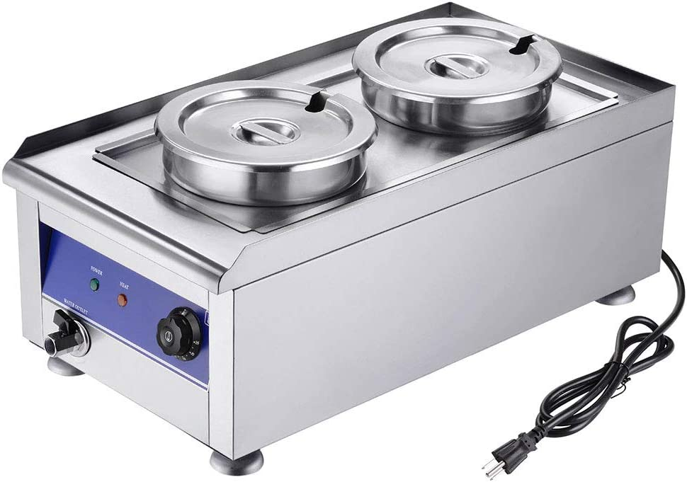 Yescom 1200W Commercial Chili Cheese Food St Warmer 7L Pots Branded Special price for a limited time goods Dual