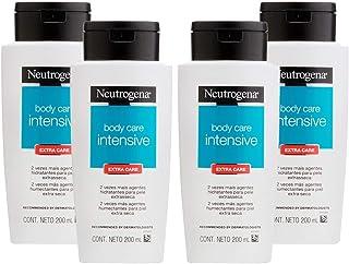 Kit Hidratante Corporal Neutrogena Body Care Intensive Extra Care 200ml com 4 Unidades
