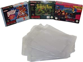 5 x Super Nintendo SNES Box Clear Sleeve Protector Covers