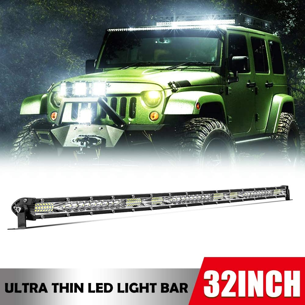 32inch Single Row LED Light Bars Spot Beauty products Max 49% OFF Beam Flood Combo Offroad