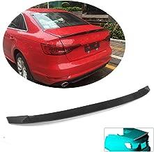 MCARCAR KIT Trunk Spoiler fits Audi A4 B9 S4 Sline Sedan 2017-2020 Factory Outlet Carbon Fiber CF Rear Boot Lid Highkick Wing Lip
