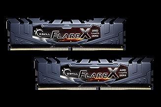 G.Skill Flare X Gaming Serisi CL16 (16-18-18-38) Alüminyum Soğutuculu 1.35V AMD Ryzen Uyumlu Dual Bellek Kiti, 2x8GB, 3200 MHz, Kırmızı