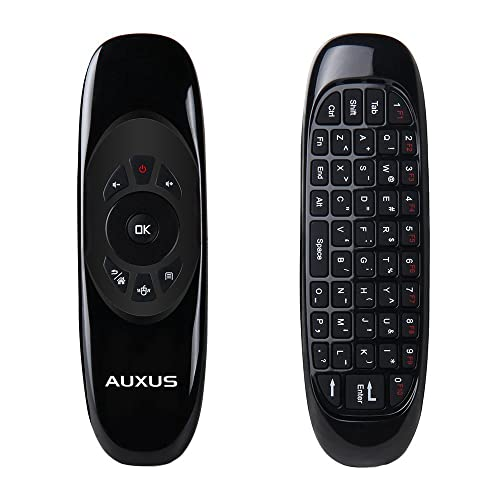 AUXUS Airmouse - Wireless Remote Controller for Smart TV, Android TV Box & PC - Black