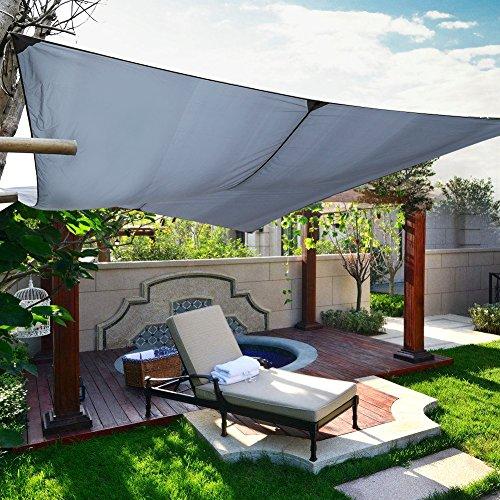 Lienzo de sombreado, 3x 4m Store Banne de terraza toldo rectangular impermeable para jardín balcón activété exterior pation Camping–Negro