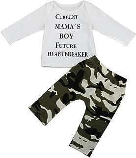 Rawdah Linsieme dei Vestiti del ha fissato Gli Infantili della Maglietta della Stampa neonata del Ragazzo del Ragazzo neonata