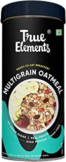 True Elements Multigrain Oatmeal 400gm - Breakfast Food, Power of Multigrain Oats, Amaranth, Barely & Jowar Flakes, Diet Food