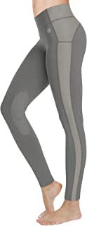 FitsT4 Women's Riding Tights Knee Patch Ventilated Active Equestrian Schooling Tights