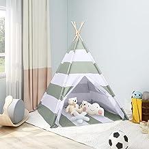 Lektält tunnlar barn tipi-tält med väska persikohud rand 120 x 120 x 150 cm