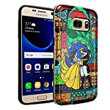 Galaxy S7 Beauty and the Beast Case, IMAGITOUCH 2-Piece Style Armor Case with Flexible Shock Absorption Case and Beauty and the Beast Cover for Samsung Galaxy S7 – Beauty Rose Hybrid