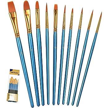 7 Pcs Professional Artist Nylon Hair Paint Brush Script Liner Painting Tools
