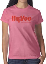 Hy-Vee Image Womens Short Sleeve T Shirt Cotton Fashion Shirt Outdoor Summer Soft and Comfortable Round Neck Tops