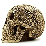 OULII Cráneo Humano Modelo Calavera Resina Decoración de Halloween