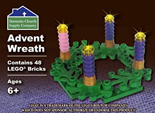 Advent Wreath custom building brick set