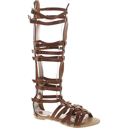 f3334043df3 StyleUpGirl Monica-1 Knee High Gladiator Sandals Marcelino Black Brown Knee