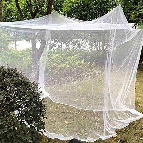 LIUJIR Large White Camping Mosquito Net Indoor Outdoor Netting Storage Bag Camp Insect Tent