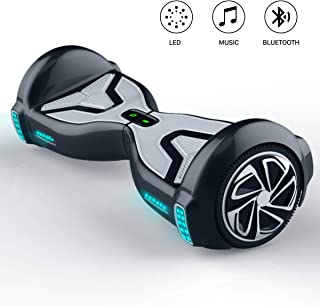 TOMOLOO Hoverboard with Bluetooth Speaker and LED Light, UL2272 Certified 6.5