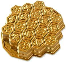 Nordicware 85477 Cast Pull Apart Cake Pan Gold