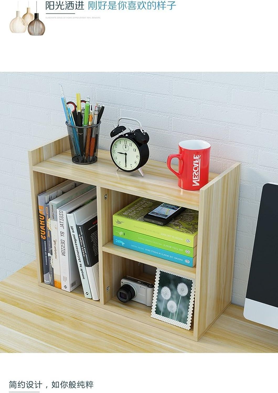 Yxsd Wood Desktop Shelves Storage Bookshelf Easy Install Rack (color    3)