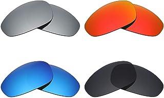 114e708e8c MRY 4 pares polarizadas lentes de repuesto para Oakley Juliet  sunglasses-stealth negro/fuego
