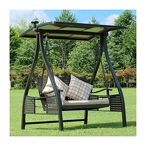 HLZY Glider de Swing Grande al Aire Libre con Soporte, Sillas de Swing al Aire Libre con Dosel, jardín Swing Lazy Dazz Hammocks Swing Bench Juego Patio, jardín