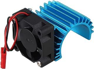 Mxfans 308006 Blue Aluminum Alloy 380 Motor heatsink with Fan for RC 1:16 Car Motor Heat sink