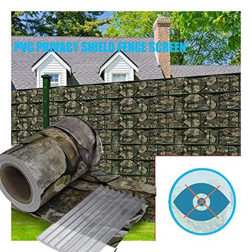 GDMING Valla Protectora De Privacidad De PVC Decorativa con Clip Al Aire Libre Protección UV Impermeable Opaco Sombrilla para Jardín Balcón Cubierta Terraza, 21 Tamaños (Color : A, Size : 0.19x75m)